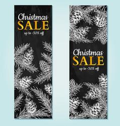 Christmas sale banner hand drawn vector