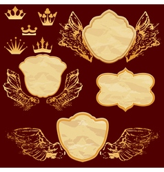 frame old paper wings 380 vector image vector image