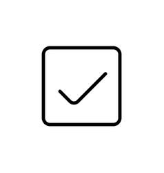 line ok icon on white background vector image