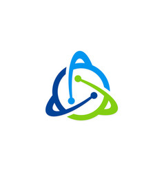 Orbit atom technology logo vector