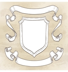 Vintage banners Ribbons and shield vector image vector image