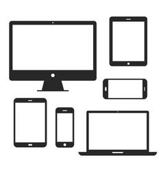 device screen icon set vector image vector image