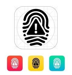 Fingerprint scan error icon vector