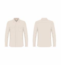 mens beige dress shirt vector image