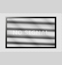 modern tv with noises on the screen isolated on vector image