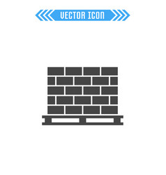 pallet with bricks sign symbol vector image