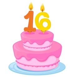 A birthday cake vector