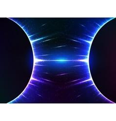 Dark blue shining cosmic spheres gravity vector image vector image