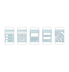 Mobile phones with user interface elements vector image