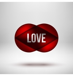 Red Love Bubble Badge vector image vector image