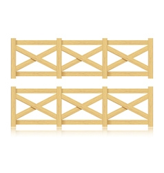 A set of wooden fence Isolated vector image vector image