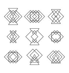 Set of trendy hipster geometric shapes ethnic vector