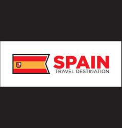spain travel destination banner vector image vector image