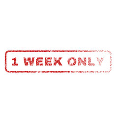 1 week only rubber stamp vector image