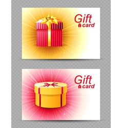 2 bright gift cards vector image