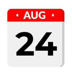 24 august calendar icon vector