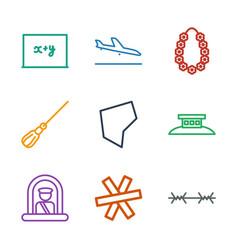 9 border icons vector image