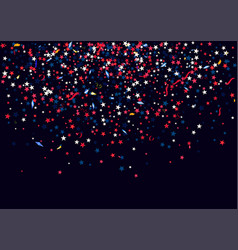abstract background with flying red blue silver vector image