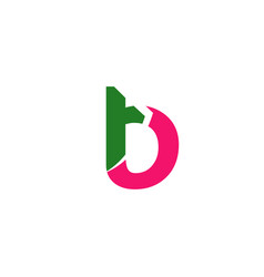 abstract icon logo for letter b vector image