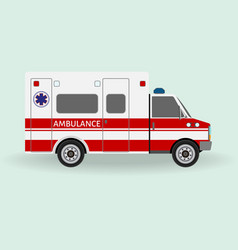 Ambulance car emergency medical service vehicle vector