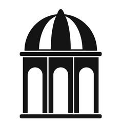 arbor gazebo icon simple style vector image