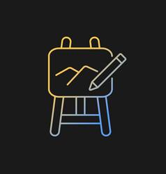 Art gradient icon for dark theme vector