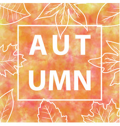 autumn banner with watercolor background vector image