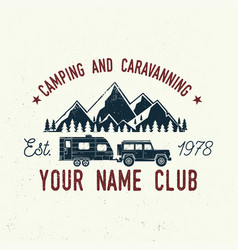 camper and caravaning club vector image