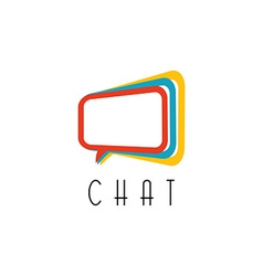 Chat logo talking concept idea communication vector image