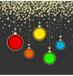Christmas ball on grey background with snowflakes vector image