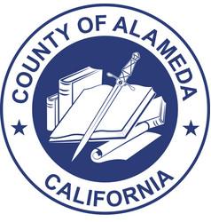 Coat of arms of alameda county in california vector