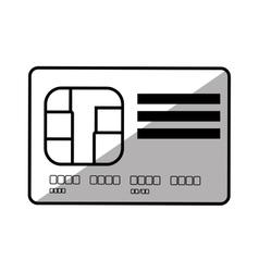 Credit card pay bank shadow vector