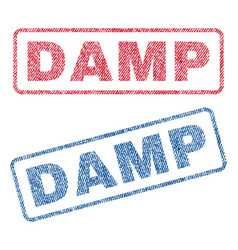 Damp textile stamps vector
