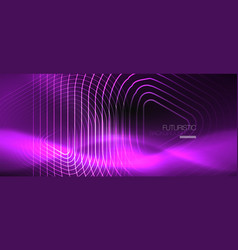 dark black abstract background with neon colors vector image