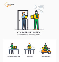 delivery service mail courier online ordering vector image