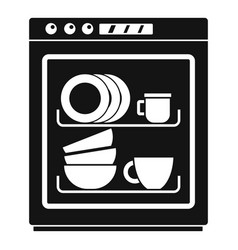 Dishwasher icon simple style vector