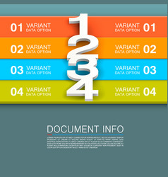 Document info banner vector