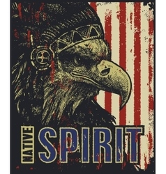 eagle in war bonnet vector image