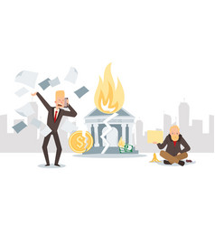 financial crisis business bankruptcy vector image
