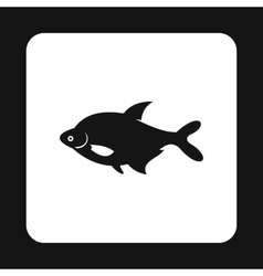 Fish icon simple style vector image
