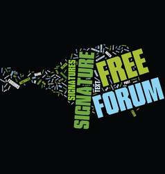 Free forum signatures text background word cloud vector