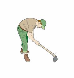 Gardener at work vector