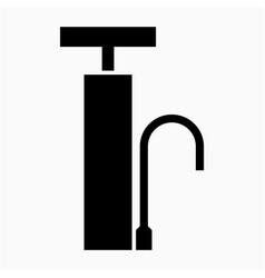 Glyph beautiful air pump icon vector