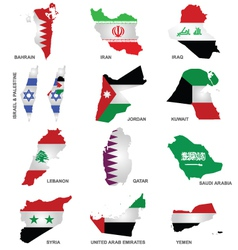 Gulf State Flags vector