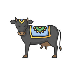 Holy cow rgb color icon vector