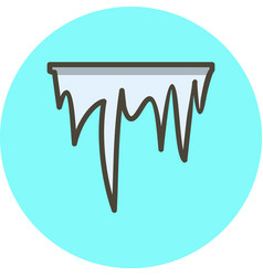 Icicle icon vector