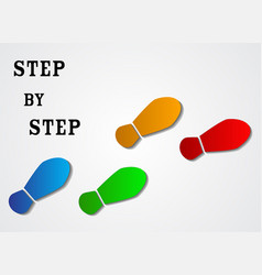 infographic design step by step over gray vector image