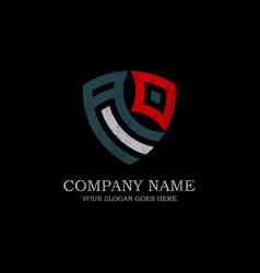 initial ad letter logo inspiration vintage shield vector image
