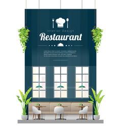 interior background modern restaurant vector image