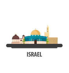 Israel travel location vacation or trip and vector
